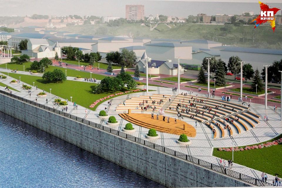 Средства нареконструкцию Нижневолжской набережной выделят уже ксередине весны