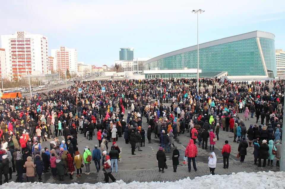 Многотысячный антитеррористический митинг прошел вУфе