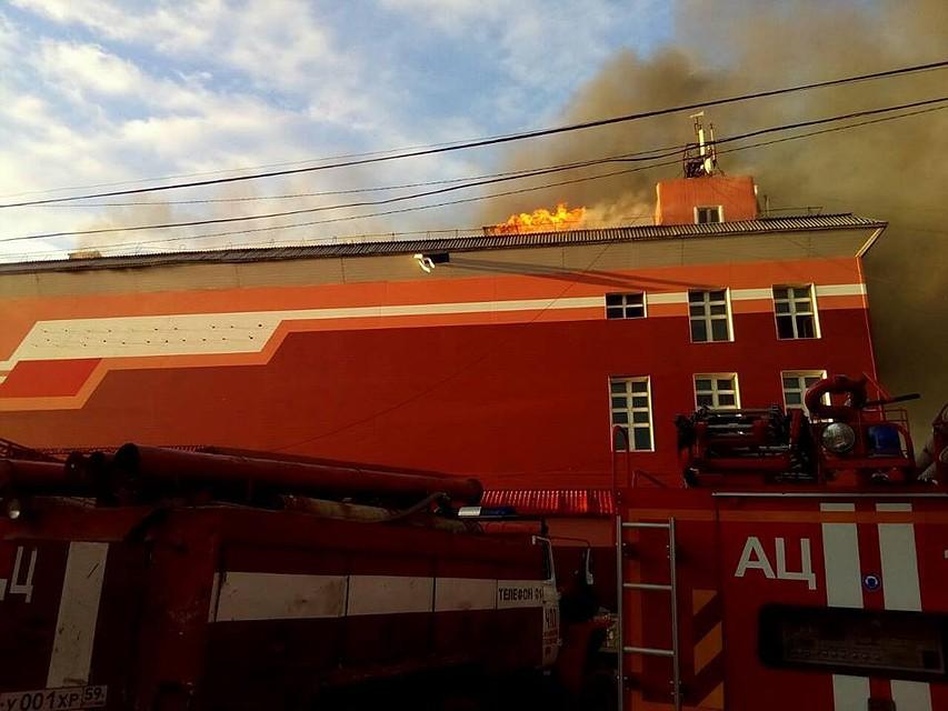 НаКраснокамском мясокомбинате произошел пожар