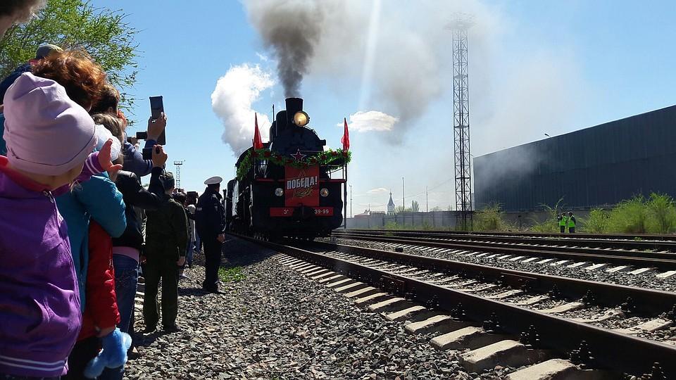 Саратовцы впервый раз встретили ретро-поезд «Победа»