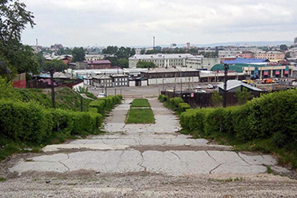 Всередине лета вИркутске планируют начать благоустройство Иерусалимской лестницы