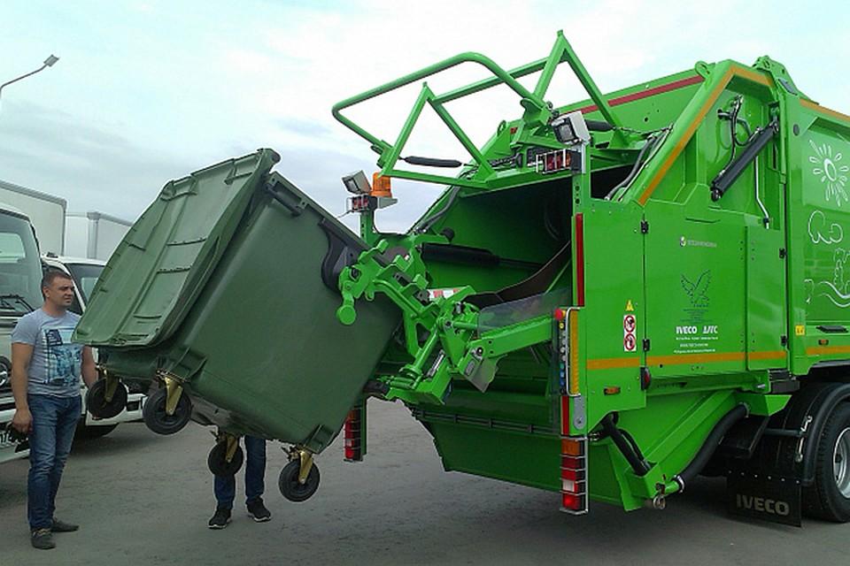 Европейский мусоровоз, работающий нагазе, появился вХабаровске