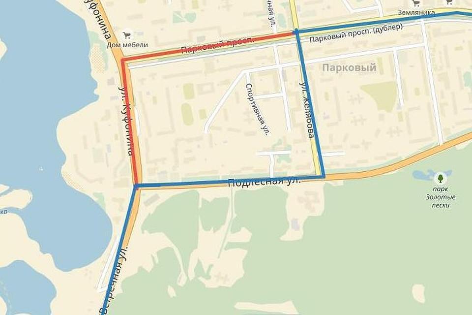 ВПерми из-за ремонта улицы Желябова изменён маршрут автобуса №54