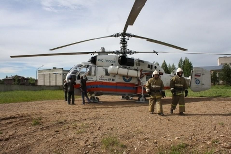 Вертолет МЧС эвакуировал тяжелобольного пенсионера вТверскую поликлинику
