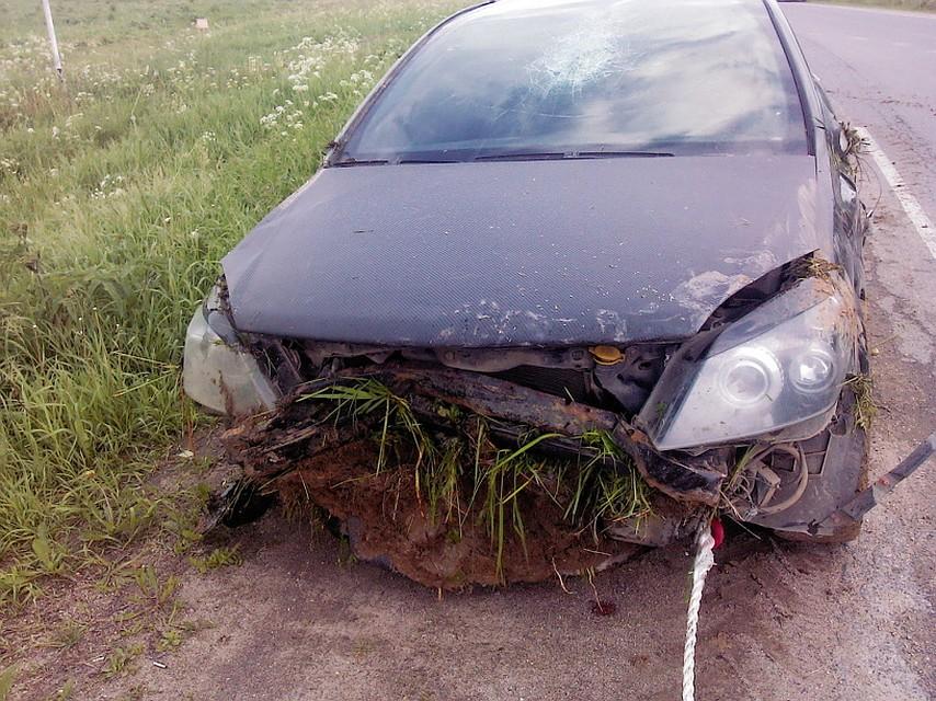 Под Вологдой машина ушла вкювет, достаточно серьезно  травмирован шофёр