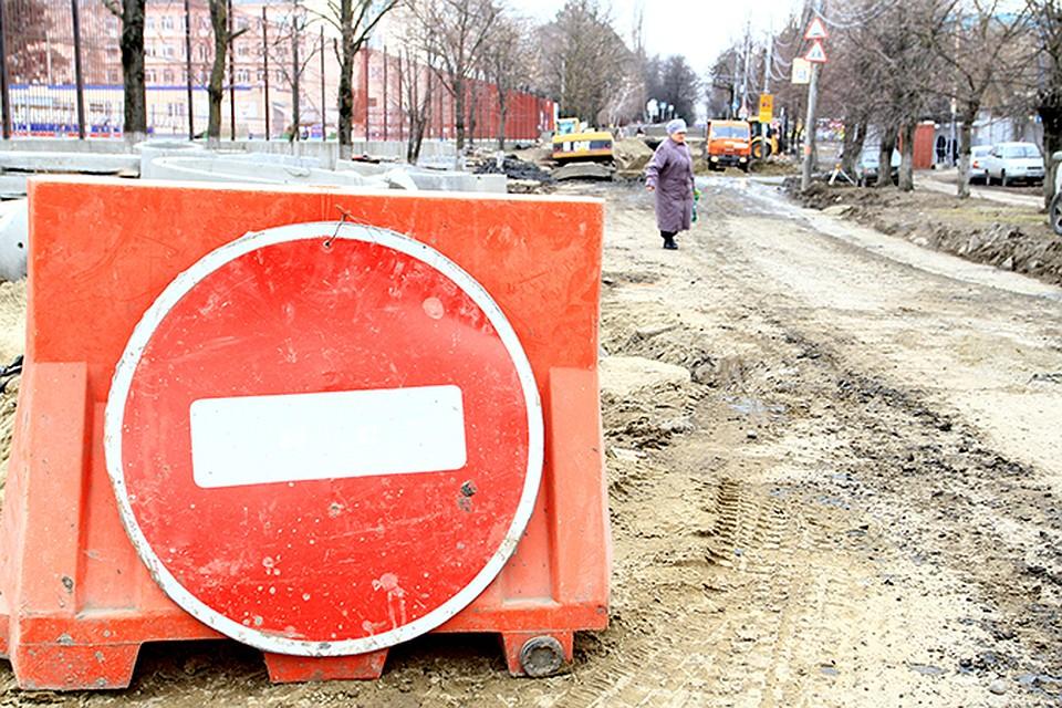 Из-за дождя размыло часть дороги умоста вселе Мостовского района