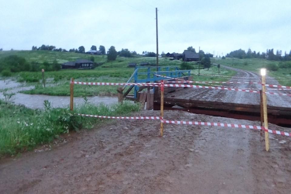 В 3-х районах Пермского края врезультате ливней размыты мосты