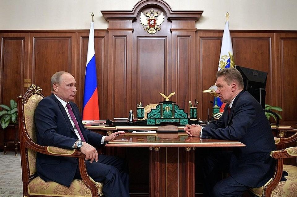 Алексей Миллер на встрече с президентом Владимиром Путиным обсудил сотрудничество с Ярославской областью