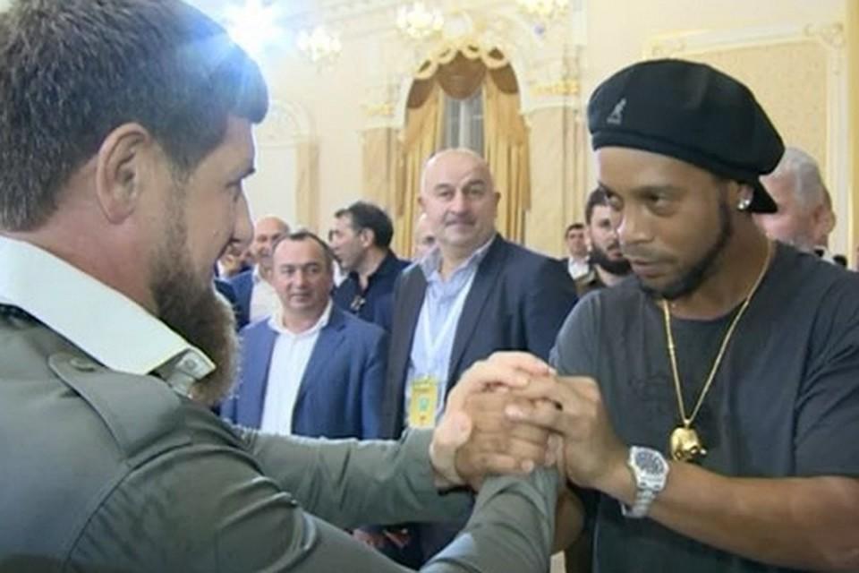 Басков иРональдиньо развлекли Кадырова набольшом празднике