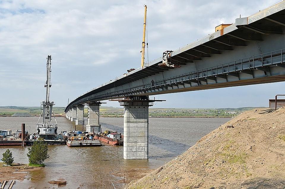 ВУдмуртии мост через Каму откроют только осенью 9