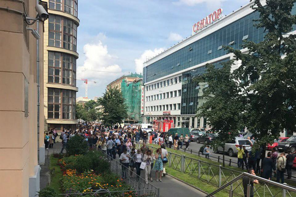 ВПетербурге из-за сообщения обомбе эвакуировали бизнес-центр