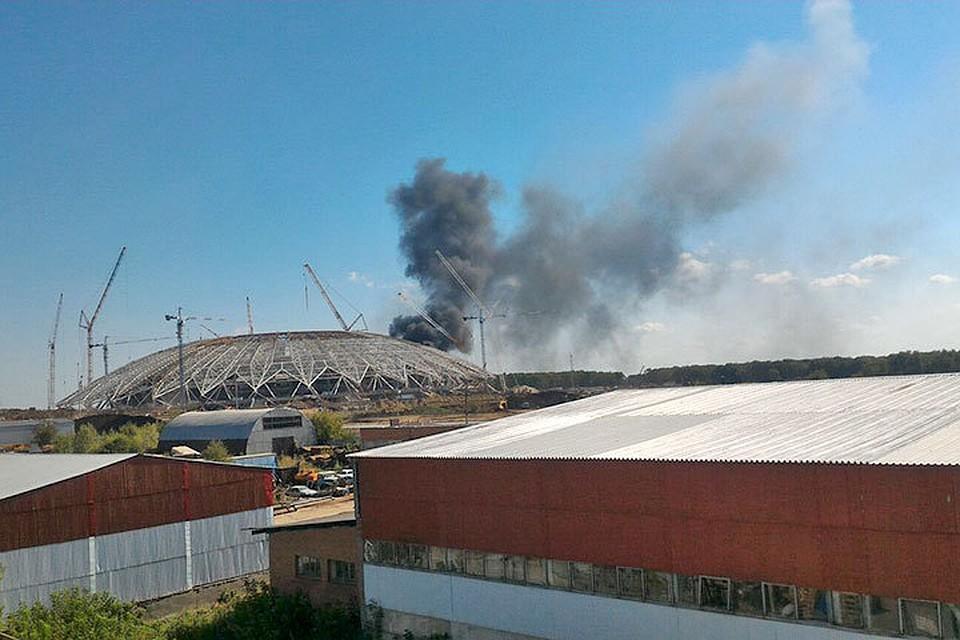 Настадионе «Самара-Арена» произошел пожар