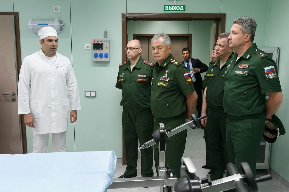Шойгу установил жесткие задачи руководителям нового корпуса лечебно-диагностического центра Минобороны