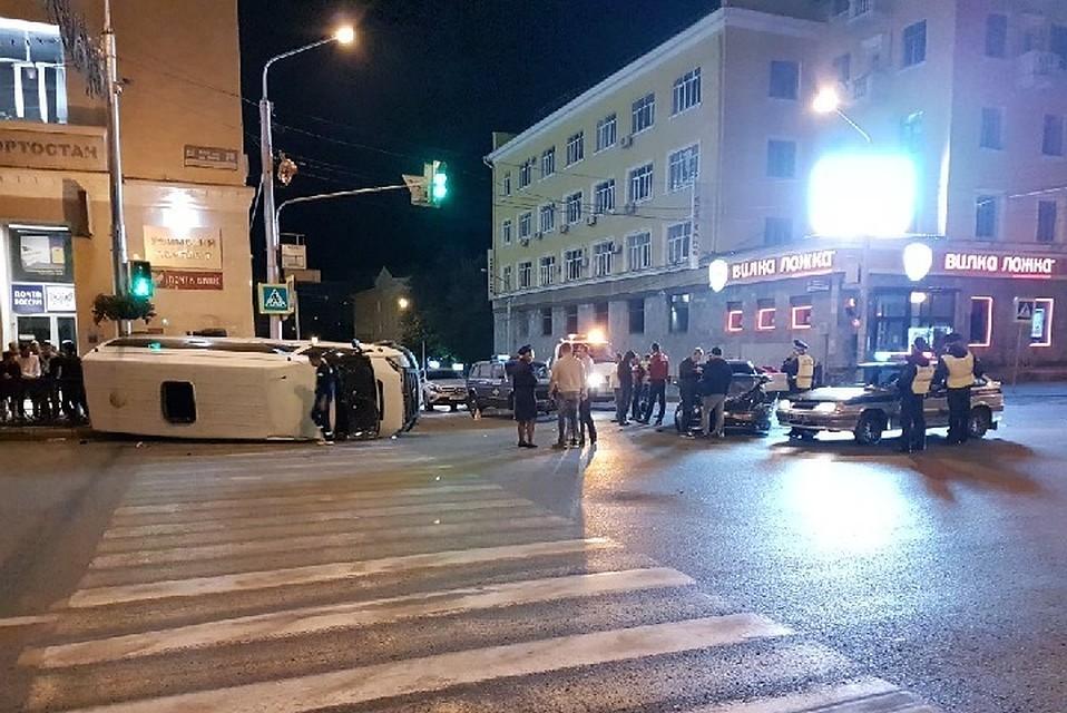 Легковушка опрокинула пассажирский автобус вУфе