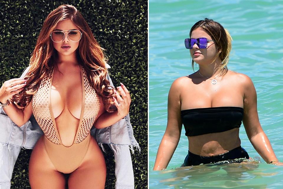 Пляжные фотографии Анастасии Квитко без фотошопа иретуши шокировали почитателей модели