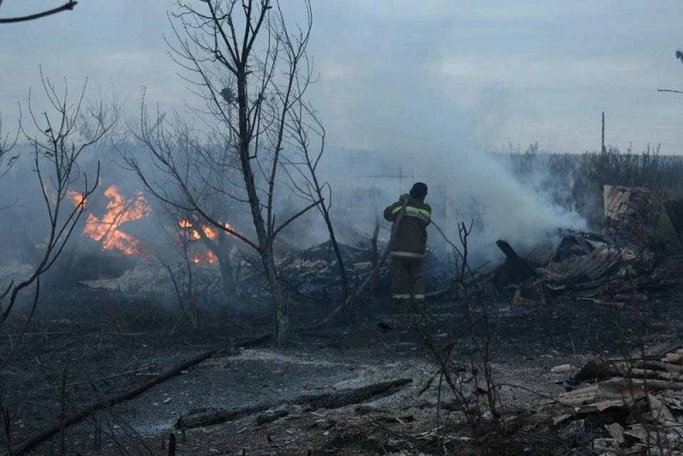 ВВолгоградской области из-за пожара эвакуируют граждан хутора