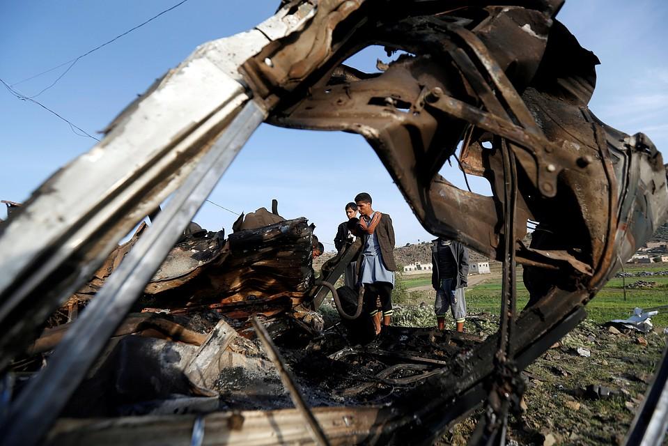 ВЙемене арабская коалиция нанесла удар около столицы, есть жертвы