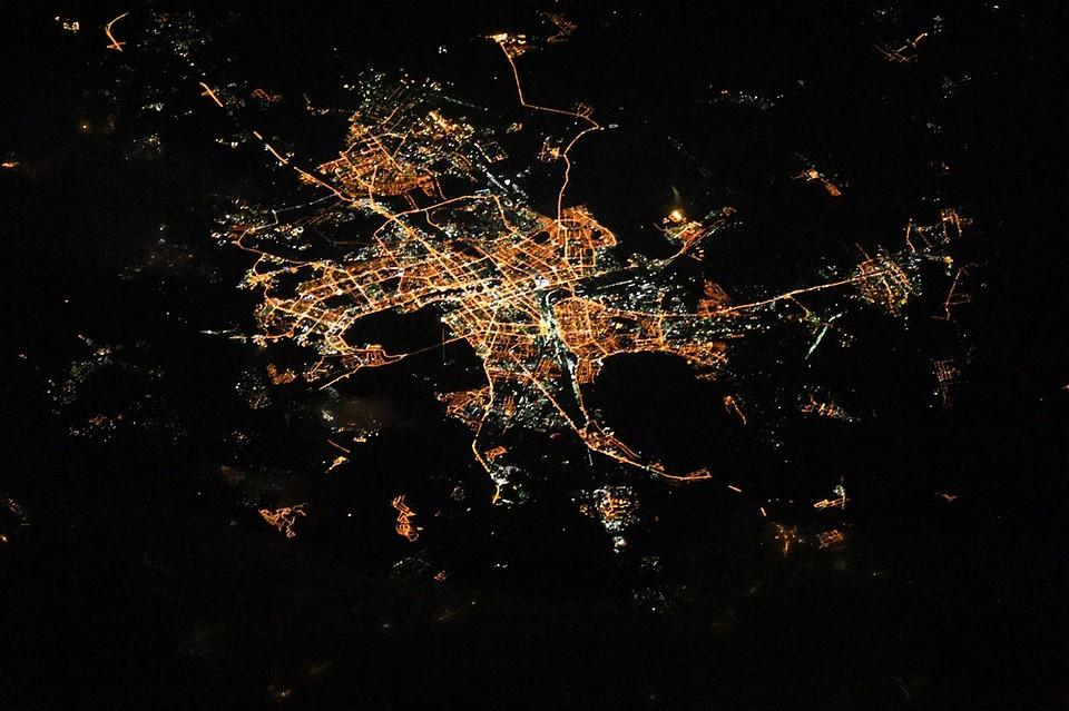 Так вот ОНО какое: космонавт сфотографировал сборта МКС «лицо Челябинска»