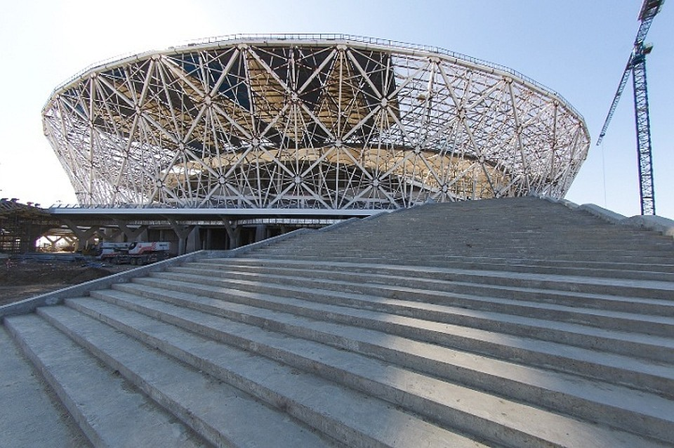 Настадионе «Волгоград Арена» лестницы построили пятиконечной звездой