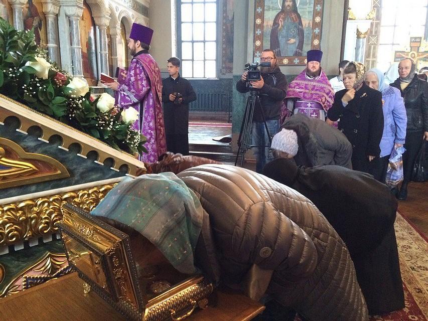 ВБрянск доставили ковчег счастью пояса пресвятой Богородицы