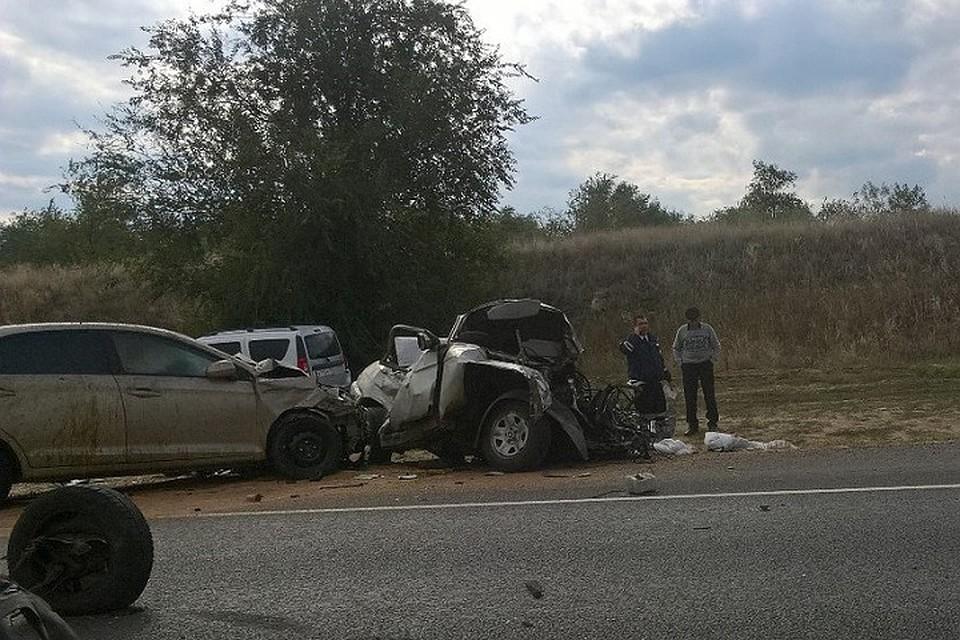 Из-за дорожного происшествия под Волгоградом парализован участок дороги