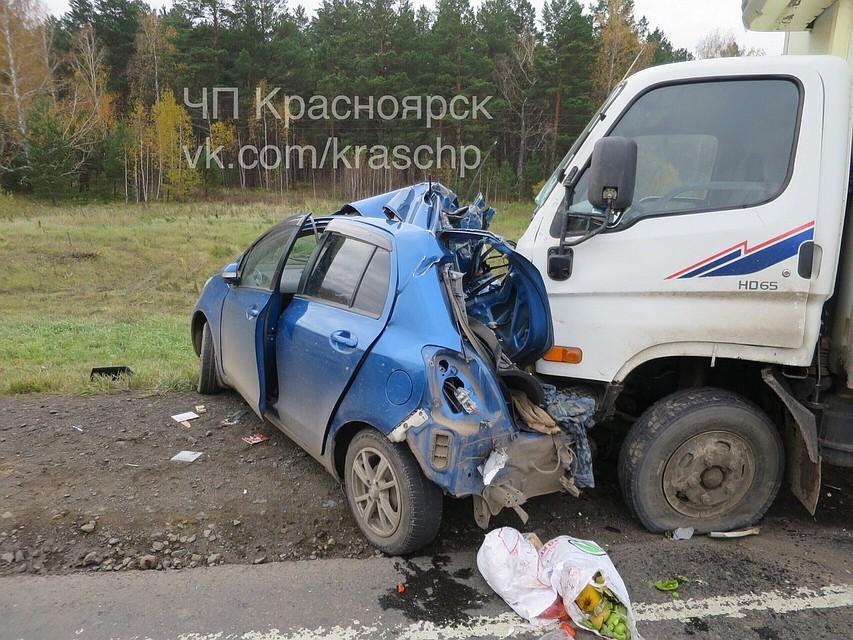 Половину «Тойоты» смяло вжутком ДТП с грузовым автомобилем : погибла женщина