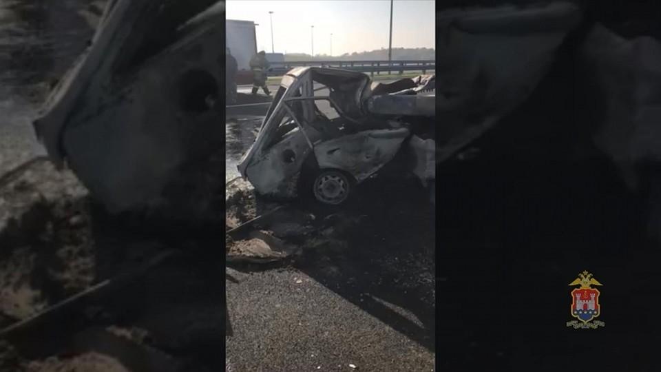 Вкрупном ДТП вРязанской области погибли пешеход и шофёр фургона