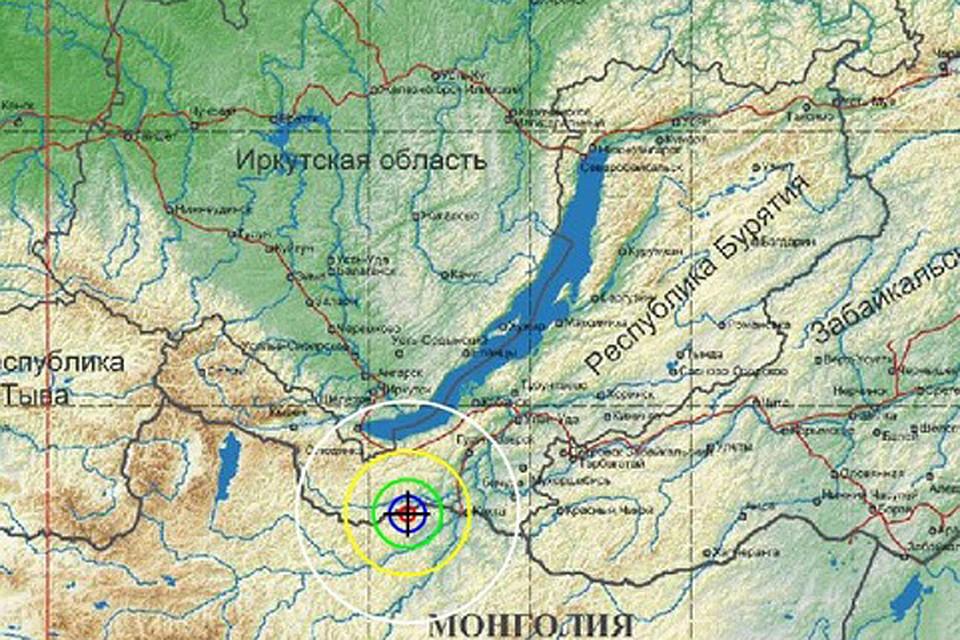 Землетрясение силой в3-4 балла зафиксировали вИркутской области иБурятии