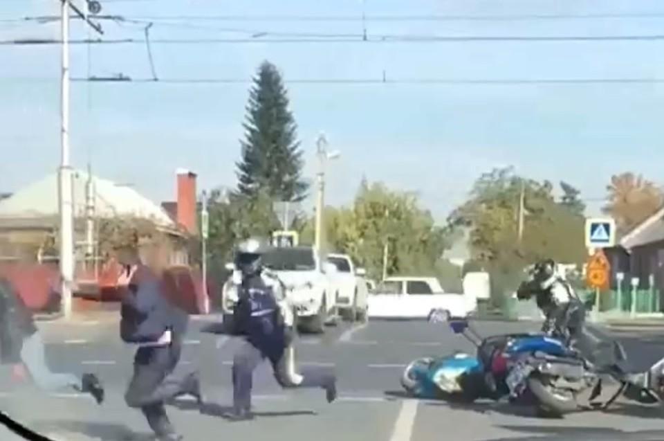 Нетрезвого байкера задержали полицейские вКраснодаре