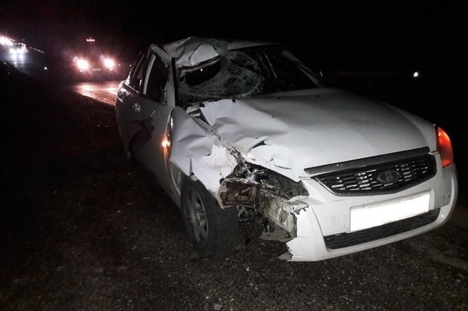 ВСеверском районе Кубани пешеход умер под колёсами «Приоры»