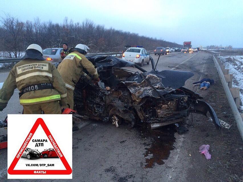 ВАЗ-2115 протаранил Ниссан вСамарской области: трое погибли