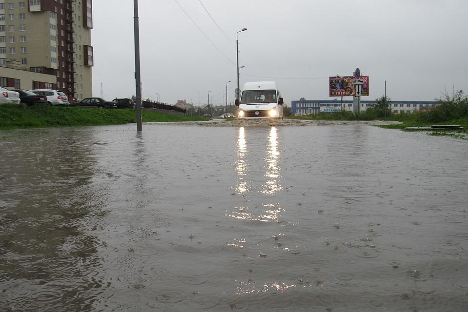 Штормовое предупреждение объявлено вКалининградской области
