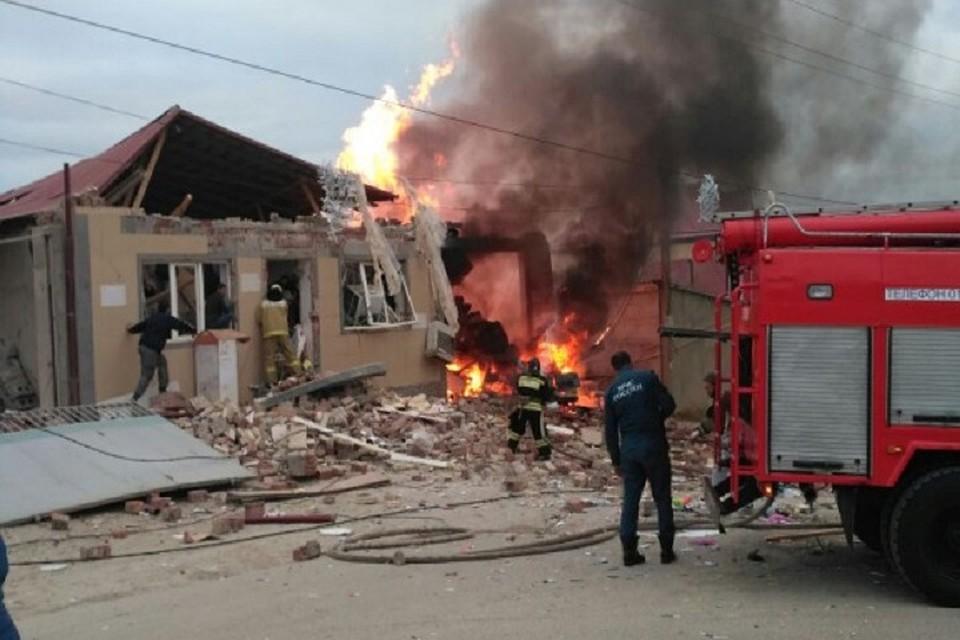 Взрыв бытового газа впоселке Новый Кяхулай
