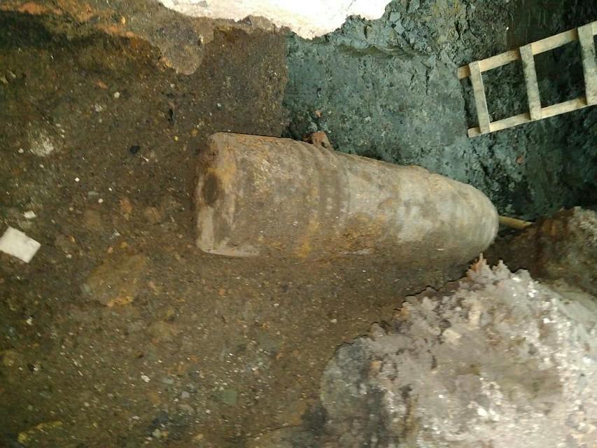 ВПетербурге наМосковском проспекте отыскали крупный артиллерийский снаряд времен войны