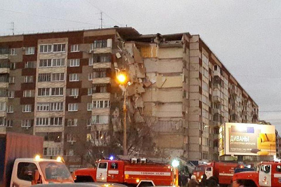 Число жертв в итоге обрушения жилого дома вИжевске возросло до 5-ти