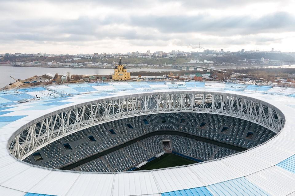 Завершен монтаж кровли настроящемся стадионе «Нижний Новгород»