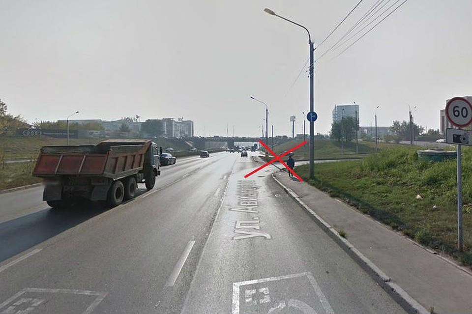 ВКрасноярске закрыли поворот сАвиаторов наПартизана Железняка