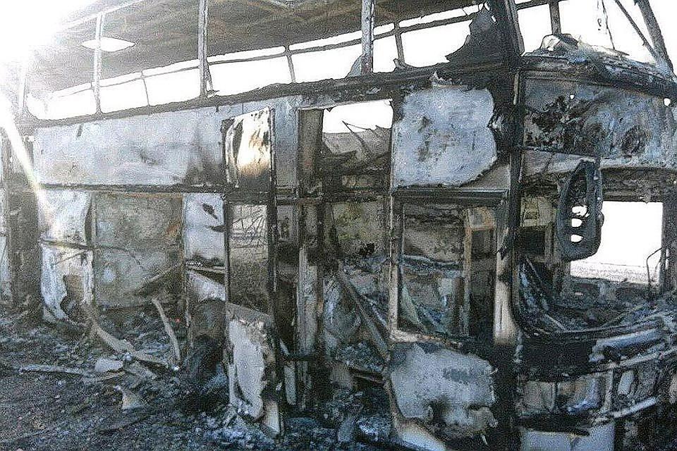ВМВД Казахстана поведали осостоянии выживших впожаре вавтобусе