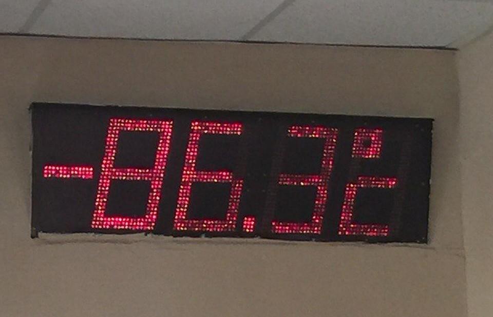 Замёрзший термометр стал поводом для шуток среди челябинцев