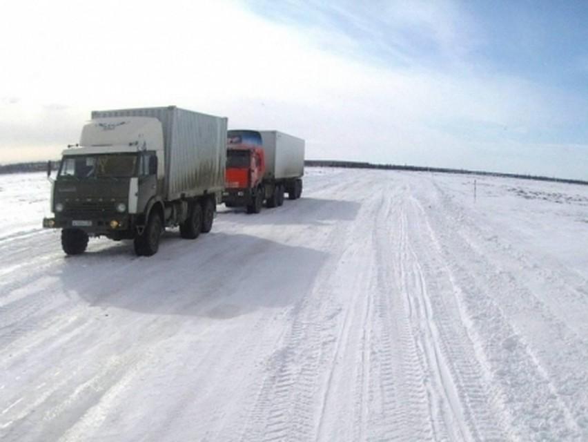 Открыт участок дороги «Салемал— Панаевск» ямальском зимнике