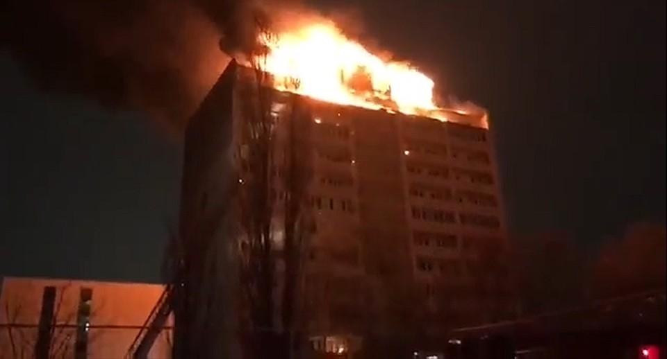 Стали известны детали пожара вжилом доме вцентре Грозного