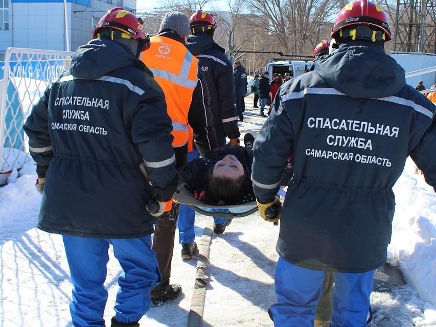 ВСамаре настадионе «Металлург» отработали оказание экстренной врачебной помощи