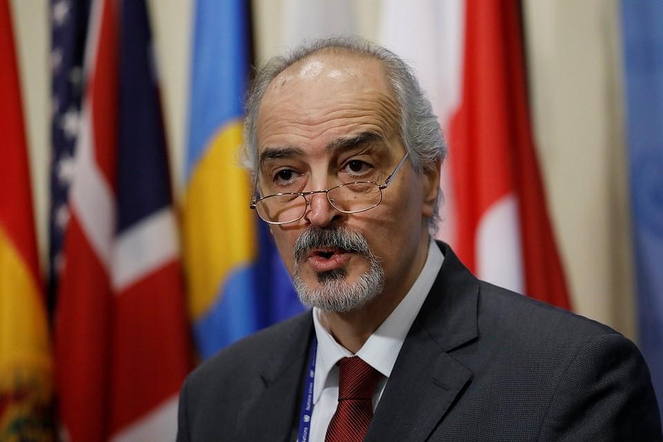 Постпред Сирии впредставительстве международной организации ООН объявил о завозе химоружия награжданских лайнерах