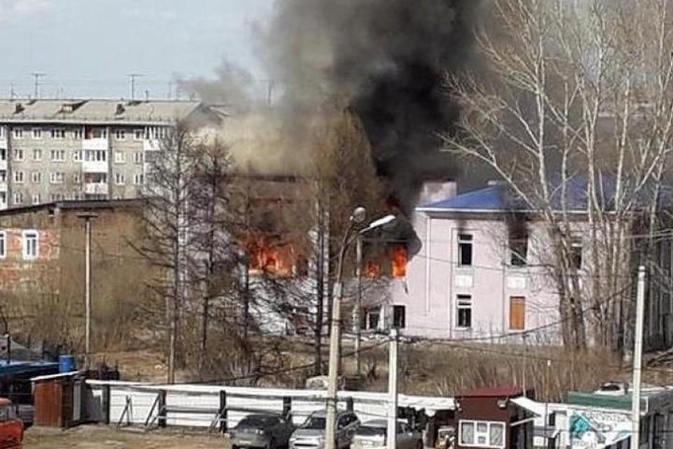 Строение прежнего Ленинского суда сгорело вИркутске-II