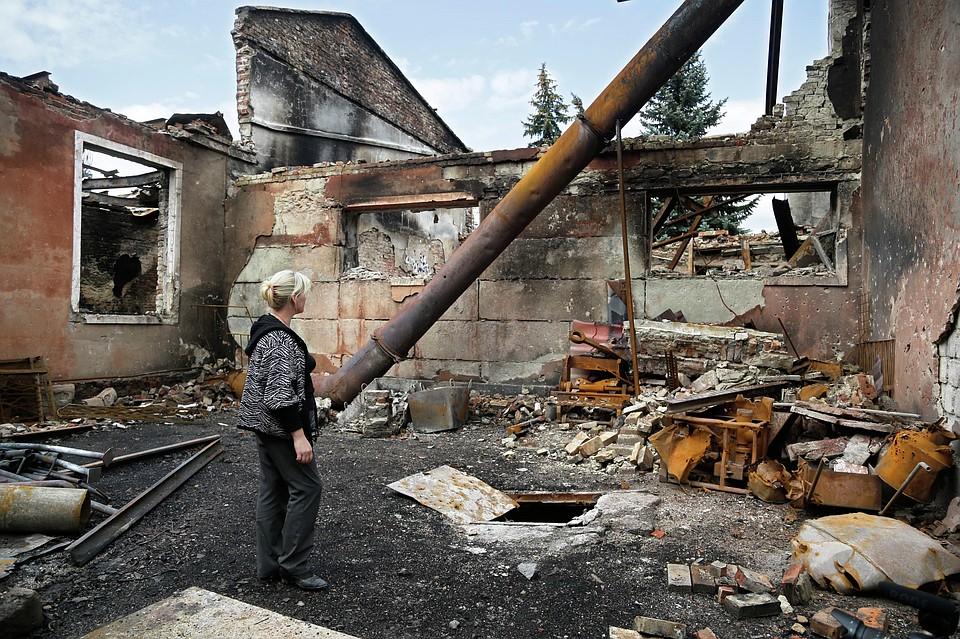 Боевики сегодня нанесли удар поЗайцево: повреждены девять домов