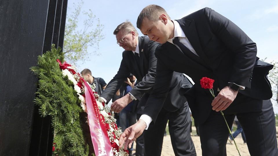РФС и германский футбольный союз возложили цветы накладбище под Волгоградом