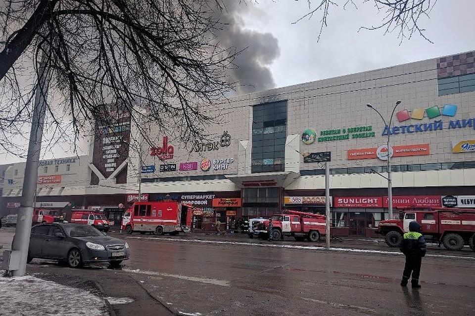 ВКемерове демонтируютТЦ «Зимняя вишня»