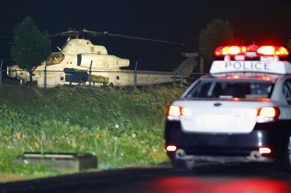ВЯпонии увоенного вертолета США отвалился иллюминатор