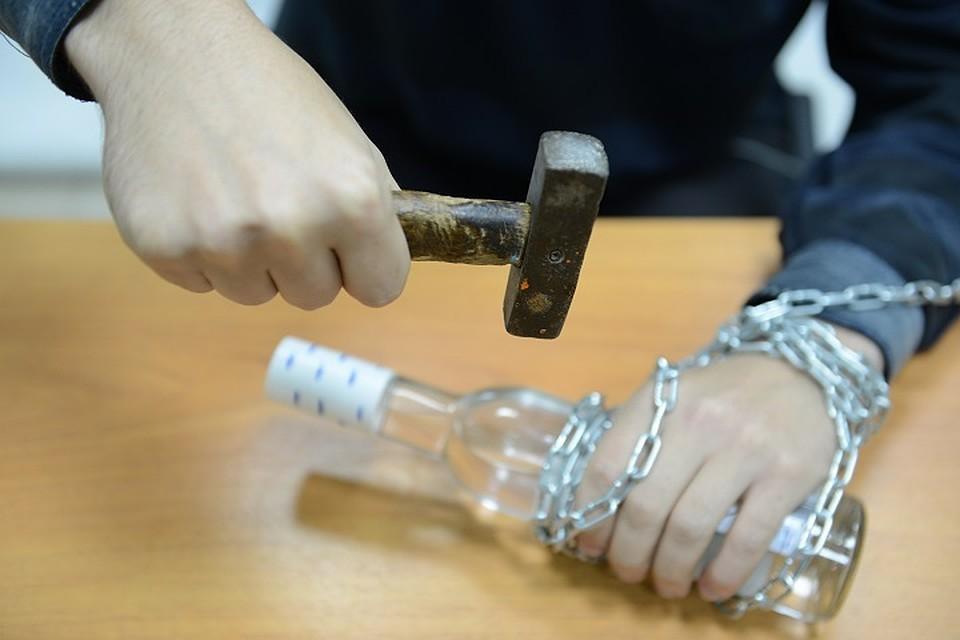 Разбитая бутылка оставила неизгладимые следы