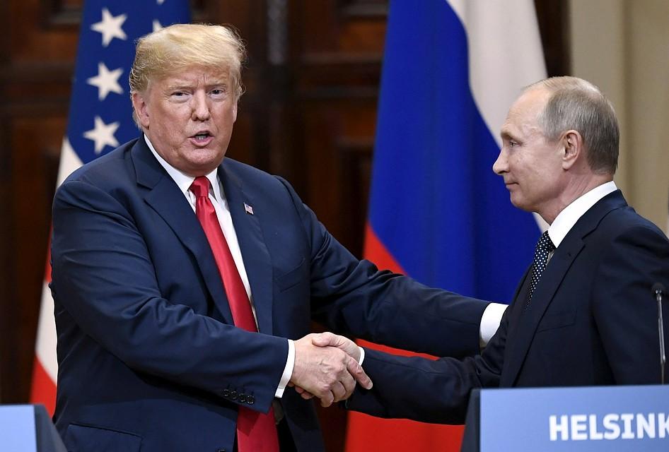 Встреча президента США Дональда Трампа и главы России Владимира Путина